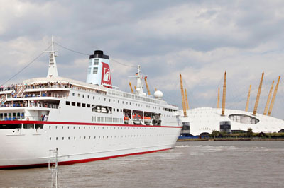 Cruise Ship In London