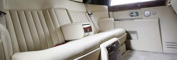 The sumptuous interior of the Rolls Royce Phantom
